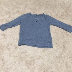 J crew v neck or crew neck depending on buttons